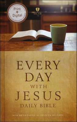 HCSB Every Day with Jesus Daily Bible A One-Year Reading Bible Hardcover  -