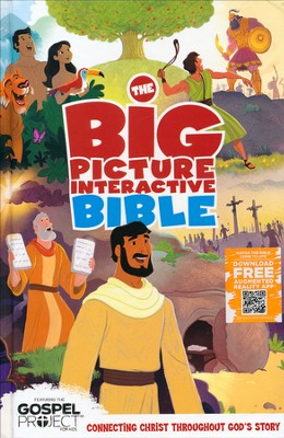 The Big Picture Interactive Bible (HCSB): Connecting Christ  Throughout God's Story, Hardcover  -