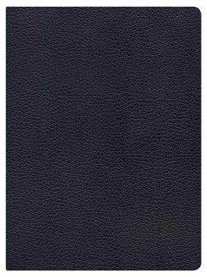 NKJV Holman Study Bible, Black Genuine Leather, Thumb-Indexed   -
