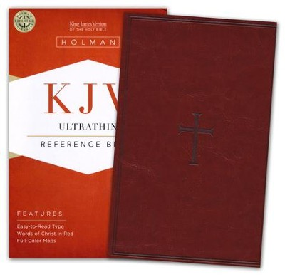 KJV UltraThin Reference Bible, Brown LeatherTouch  -