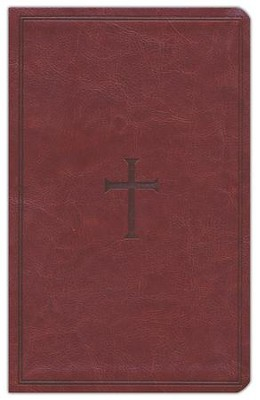 KJV UltraThin Reference Bible, Brown LeatherTouch, Thumb-Indexed  -