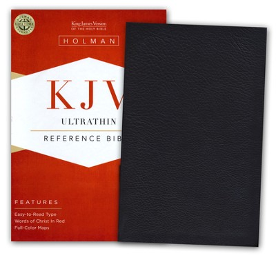 KJV UltraThin Reference Bible, Dark Brown Genuine Cowhide   -