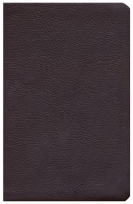 KJV UltraThin Reference Bible, Brown Genuine Cowhide, Thumb-Indexed  -