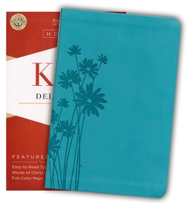 KJV Deluxe Gift Bible, Teal LeatherTouch  -