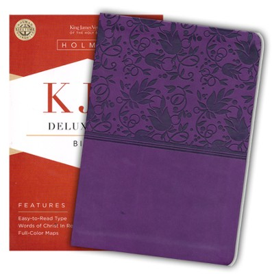KJV Deluxe Gift Bible, Purple LeatherTouch  -