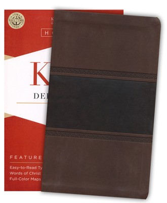 KJV Deluxe Gift Bible, Brown and Chocolate LeatherTouch  -