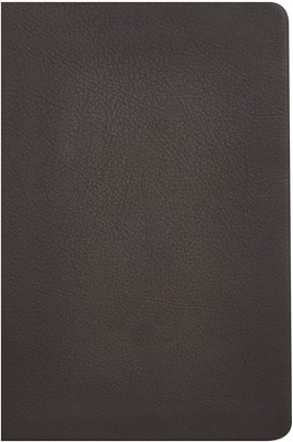 KJV Giant Print Reference Bible, Brown Genuine Cowhide, Thumb-Indexed  -