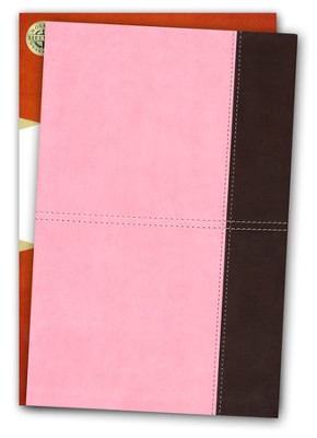 KJV Giant Print Reference Bible, Pink and Brown LeatherTouch  -