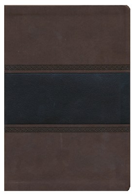 KJV Giant Print Reference Bible, Brown and Chocolate LeatherTouch, Thumb-Indexed  -