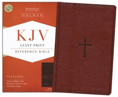 KJV Giant Print Reference Bible, Brown LeatherTouch  -