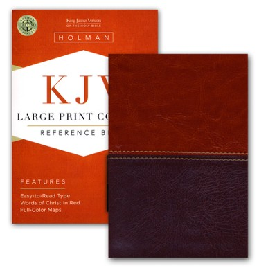 KJV Large Print Compact Reference Bible, Brown and Tan LeatherTouch  -