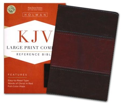 KJV Large Print Compact Reference Bible, Saddle Brown LeatherTouch  -