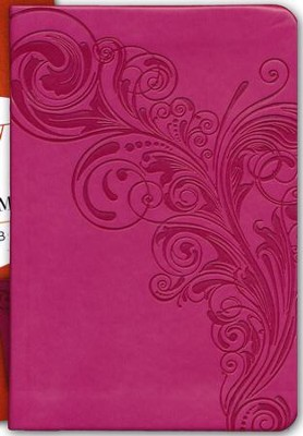 KJV Large Print Compact Reference Bible, Pink LeatherTouch  -
