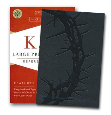 KJV Large Print Compact Reference Bible, Charcoal LeatherTouch  -