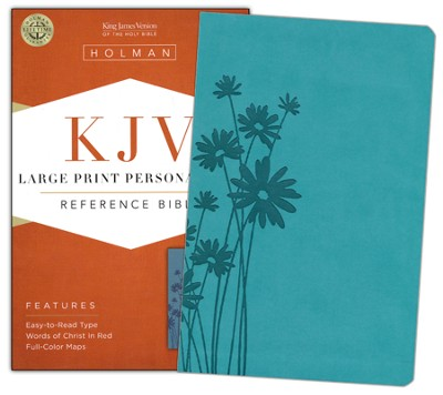 KJV Large Print Personal Size Reference Bible, Teal LeatherTouch  -     By: Janice Hanna