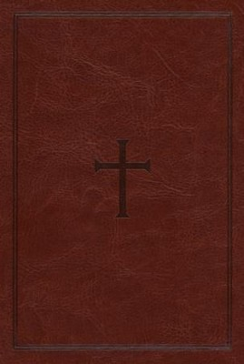 NKJV Large Print Compact Reference Bible, Brown LeatherTouch  -
