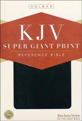 KJV Super Giant Print Bible, Black Imitation Leather  - Slightly Imperfect  -