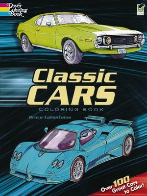 Classic Cars Coloring Book  -     By: Bruce LaFontaine