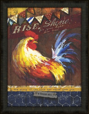 Rise and Shine Framed Art  -