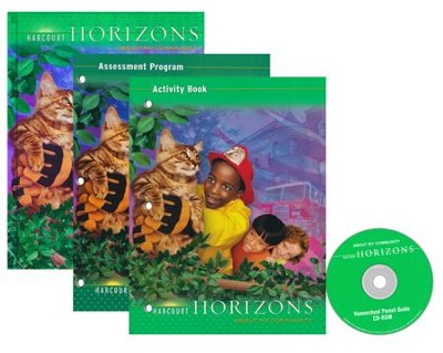 Harcourt Horizons Grade 2 Homeschool Package with Parent Guide CD-ROM  -