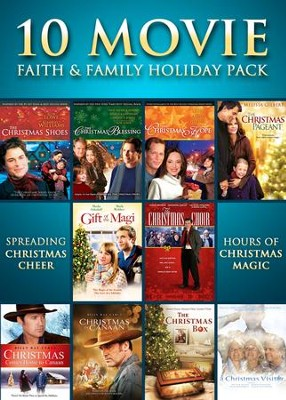 10 Movie Faith & Family Holiday Pack   -