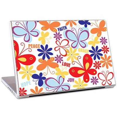 Faith, Peace, Love, Joy Laptop Skin  -