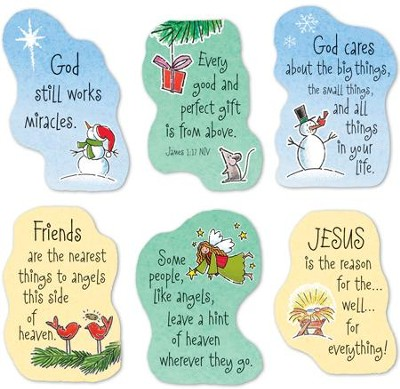 Christmas Magnets, Set of 6  -