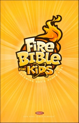 NKJV Fire Bible for Kids, Trade Paper, Case of 10   -