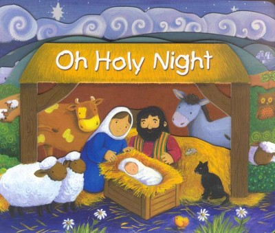Oh, Holy Night, Board Book   -     By: Tracy Harrast     Illustrated By: Estelle Corke