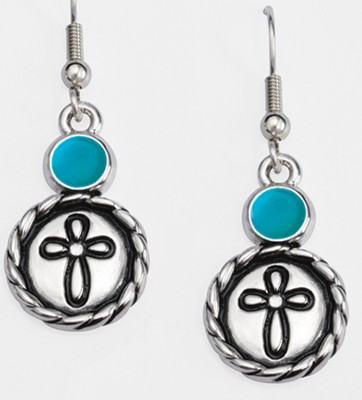 Ribbon Cross Earrings   -