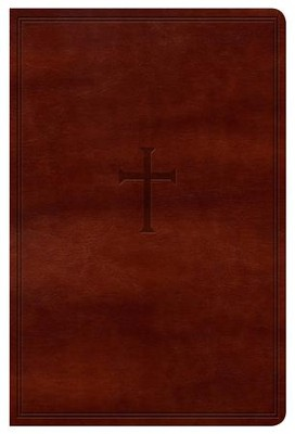 NKJV Super Giant Print Reference Bible, Brown LeatherTouch  -