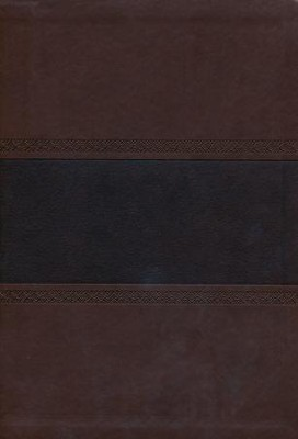 NKJV Super Giant Print Reference Bible, Brown and Chocolate LeatherTouch, Thumb-Indexed  -