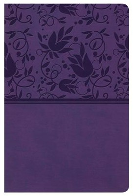 NKJV Super Giant Print Reference Bible, Purple LeatherTouch  -