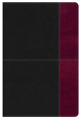 NKJV Super Giant Print Reference Bible, Black and Burgundy LeatherTouch  -