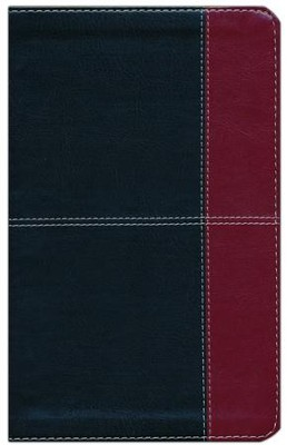 NKJV Super Giant Print Reference Bible, Black and Burgundy LeatherTouch, Thumb-Indexed  -