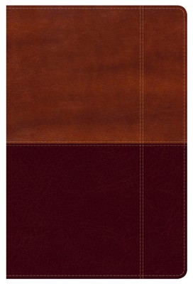 NKJV Super Giant Print Reference Bible, Brown and Tan LeatherTouch  -