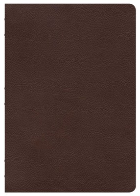 NKJV Super Giant Print Reference Bible, Brown Genuine Cowhide  -