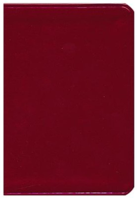 HCSB Large Print Compact ColorMax Bible, Ruby Red LeatherTouch  -