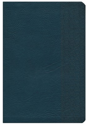 NKJV Large Print UltraThin Reference Bible, Slate Blue LeatherTouch  -