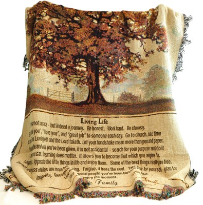 Personalized, Living Life Tapestry Throw   -
