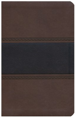NKJV UltraThin Reference Bible, Brown and Chocolate LeatherTouch  -