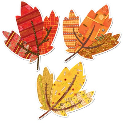 Autumn Leaves 6 Designer Cut-Outs, 3 patterns   -