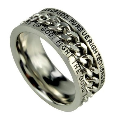 Chain Ring, Man of God, Size 14  -