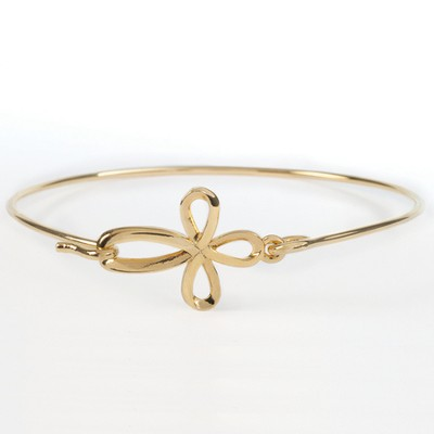 Ribbon Cross Bracelet  -
