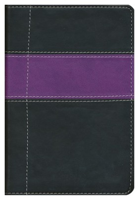 NIV Compact Thinline Bible, Black/Purple Duo-Tone  1984  -