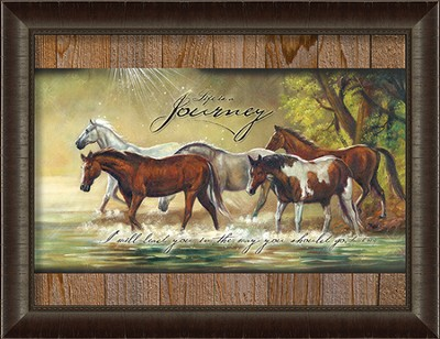 Life Is A Journey, Horses Framed Art  -