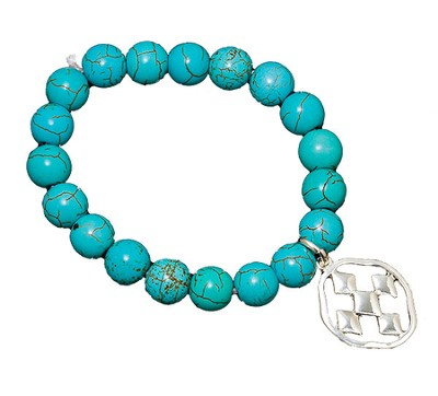 Shield of Faith Bracelet, Turquoise  -