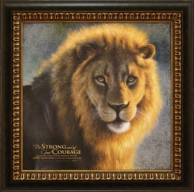 Be Strong and of Good Courage--Framed Canvas Print   -