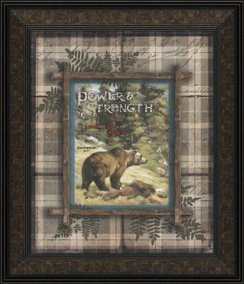 Power and Strength, Bears Framed Art  -