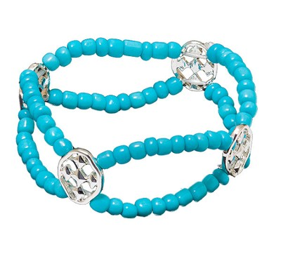 My Shield Beaded Bracelet, Turquoise  -